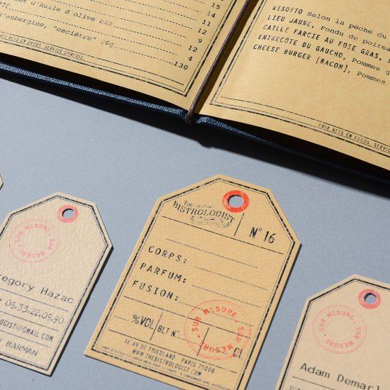 Le graphisme et l'identité visuelle ont été fait par le Studio Emma Roux pour le restaurant The Bistrologist de Paris. Graphisme inspiré d'un style vintage