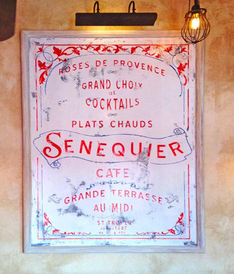 Graphisme et packaging fait par le Studio Emma Roux pour le Café Senequier de Paris. Dominante de rouge