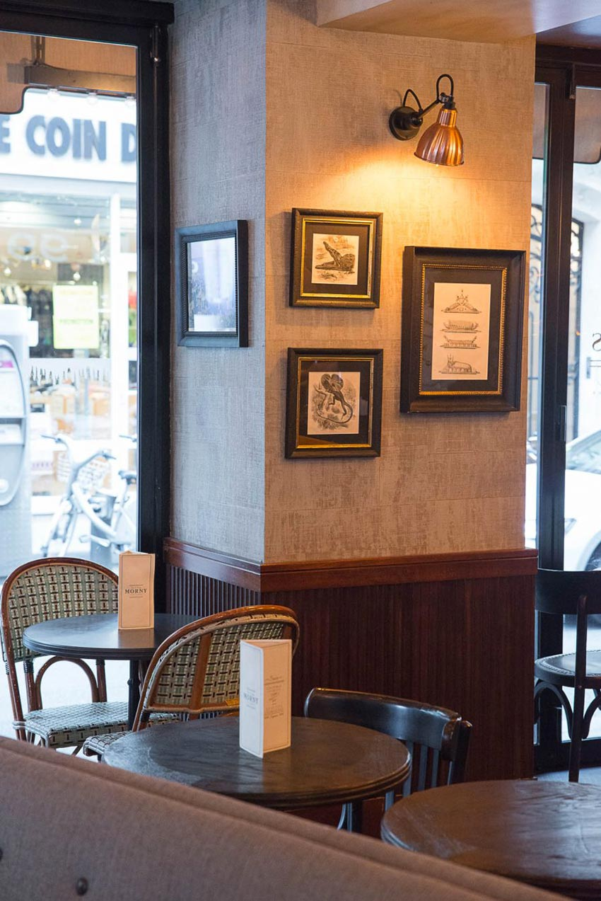 Intérieur du restaurant Le Morny. Décoration par le Studio Emma Roux.